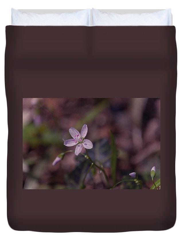 Flower Duvet Cover featuring the photograph Peyton's Petals by Trish Tritz