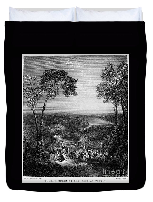 4th Century B.c Duvet Cover featuring the photograph Phryne (4th Century B.c.) by Granger
