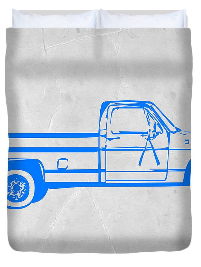 Pick Up Duvet Cover featuring the digital art Pick Up Truck by Naxart Studio