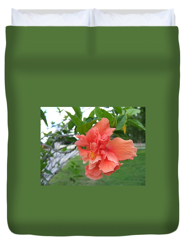 Pink Duvet Cover featuring the photograph Pink Flower by Melissa Gallant