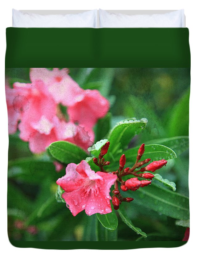 Flowers Duvet Cover featuring the photograph Coastal Flowers by Toni Hopper