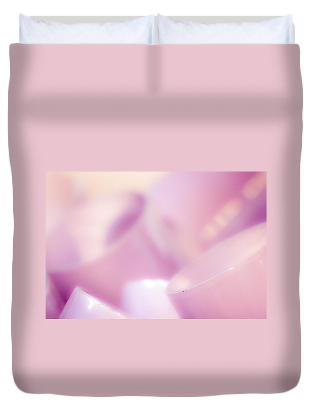 Pink Duvet Cover featuring the photograph Pink by Hakon Soreide