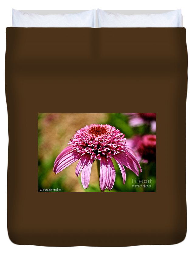 Outdoors Duvet Cover featuring the photograph Pink On Pink by Susan Herber