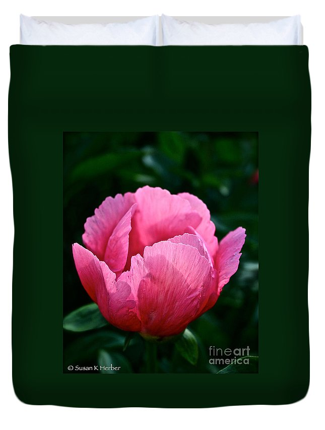 Plant Duvet Cover featuring the photograph Pink Pink Pink by Susan Herber