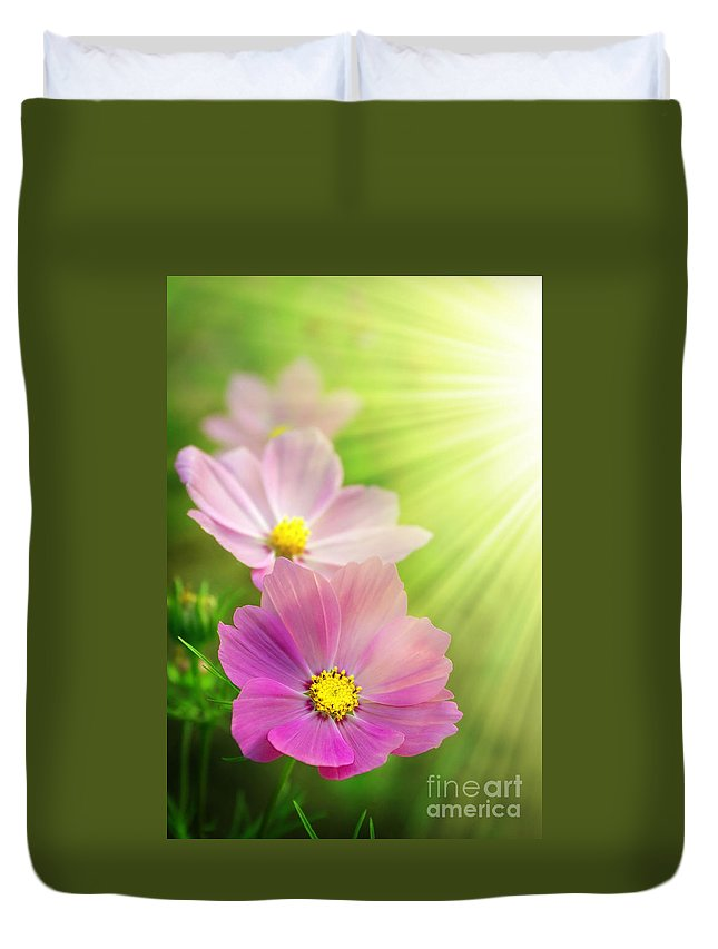 Agriculture Duvet Cover featuring the photograph Pink Spring by Carlos Caetano