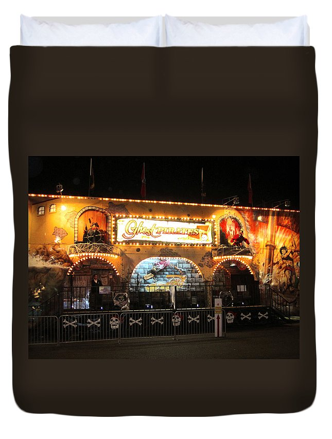 Ghost Riders Ride Duvet Cover featuring the photograph Pirates Life For Me by Kym Backland