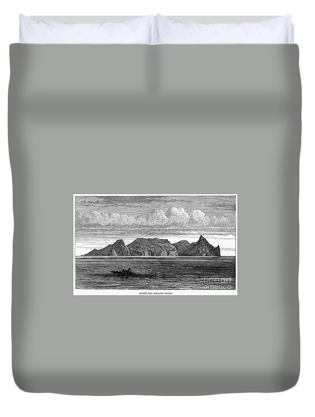 1879 Duvet Cover featuring the photograph Pitcairn Island, 1879 by Granger