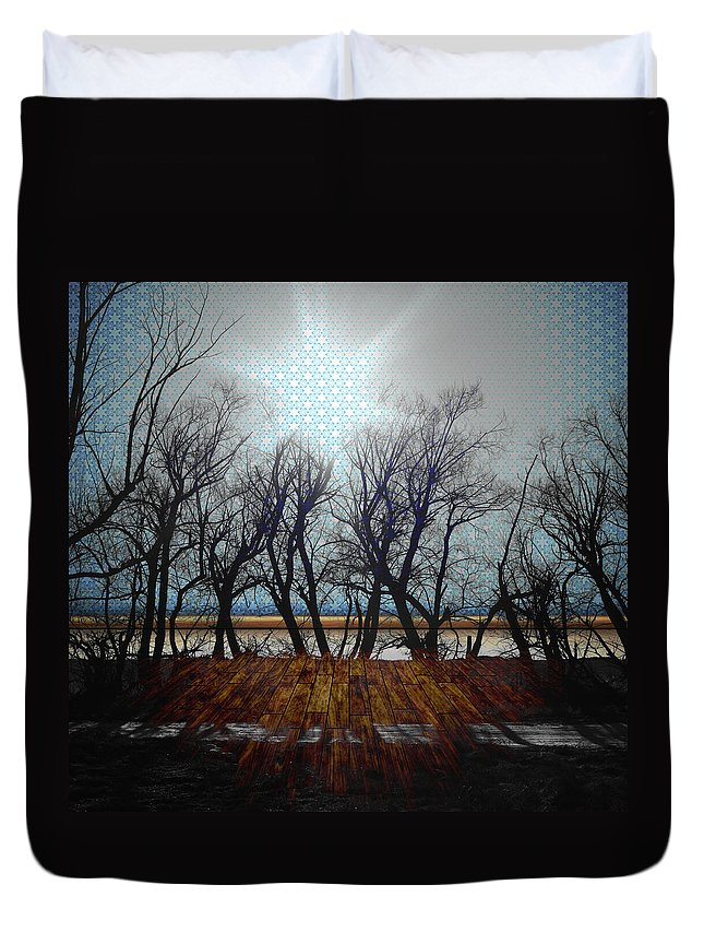 Jerry Cordeiro Duvet Cover featuring the photograph Plastic Wind by The Artist Project