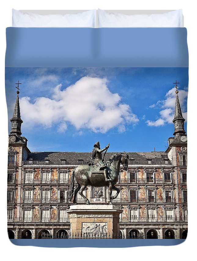 Europe Duvet Cover featuring the photograph Plaza Mayor by John Greim