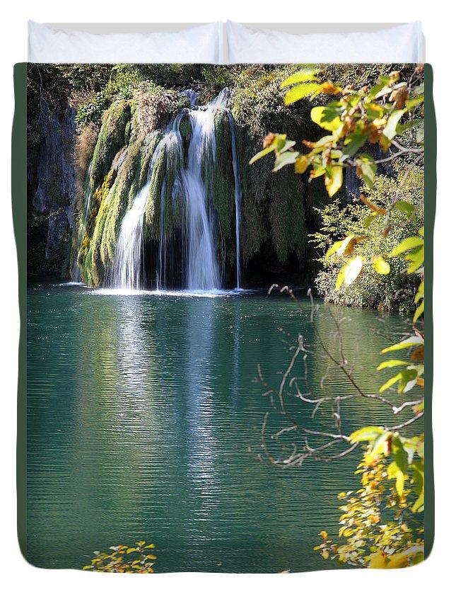 Plitvice Duvet Cover featuring the photograph Plitvice by Milena Boeva