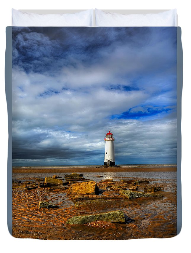 Beach Duvet Cover featuring the photograph Point Of Ayr Beach by Adrian Evans