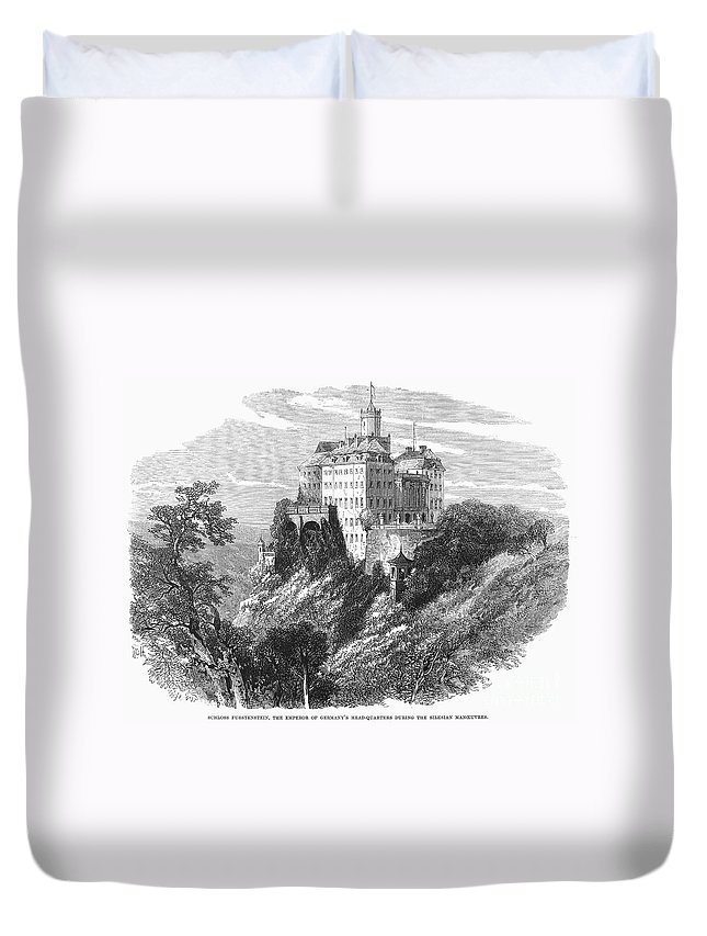 1875 Duvet Cover featuring the photograph Poland: Castle by Granger