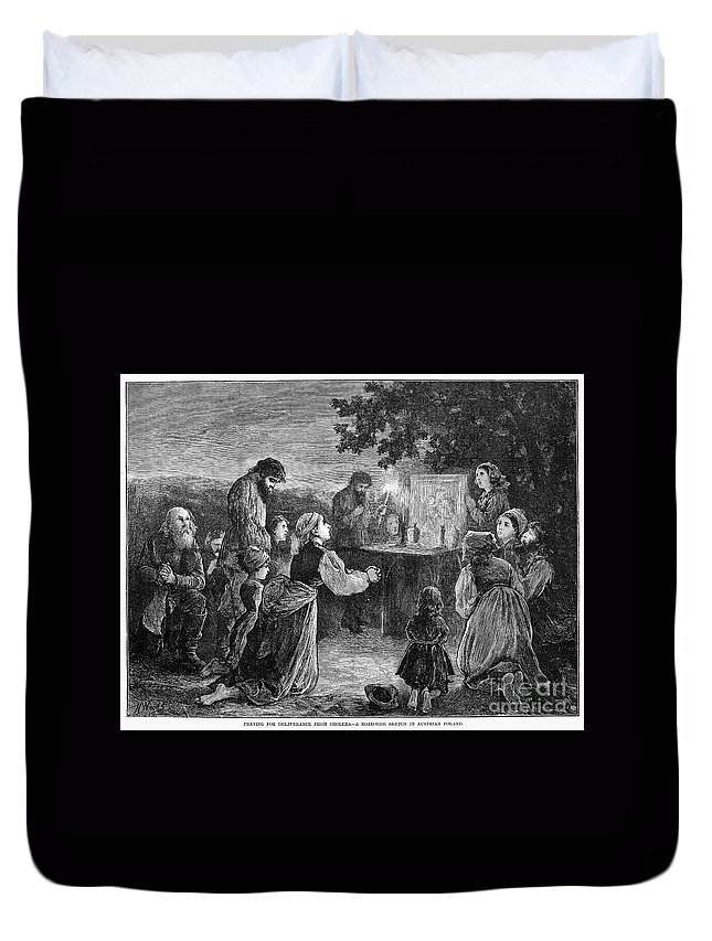 1873 Duvet Cover featuring the photograph Poland: Cholera, 1873 by Granger