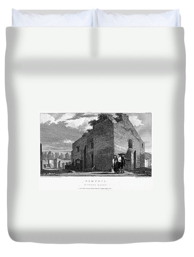 1830 Duvet Cover featuring the photograph Pompeii: Bathhouse, C1830 by Granger