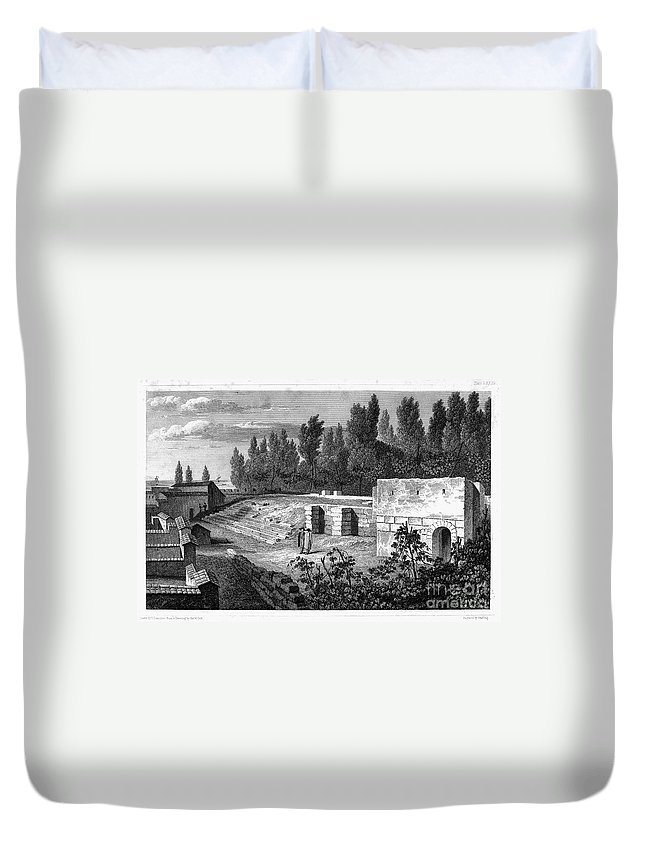 1830 Duvet Cover featuring the photograph Pompeii: Stairs, C1830 by Granger