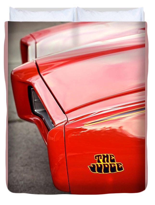 Pontiac Duvet Cover featuring the photograph Pontiac Gto - The Judge by Gordon Dean II