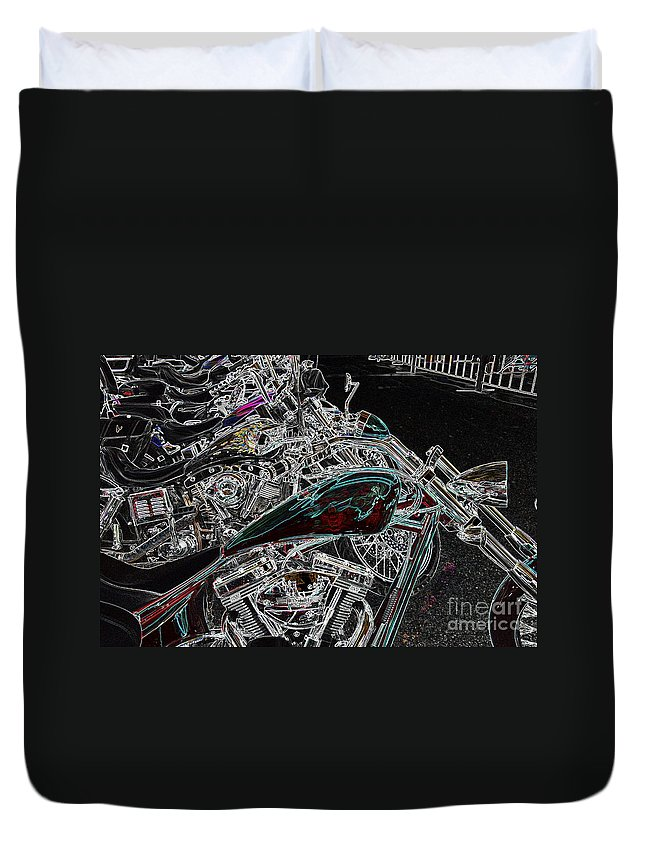 Harley Duvet Cover featuring the photograph Pop Lock And Chop by Anthony Wilkening