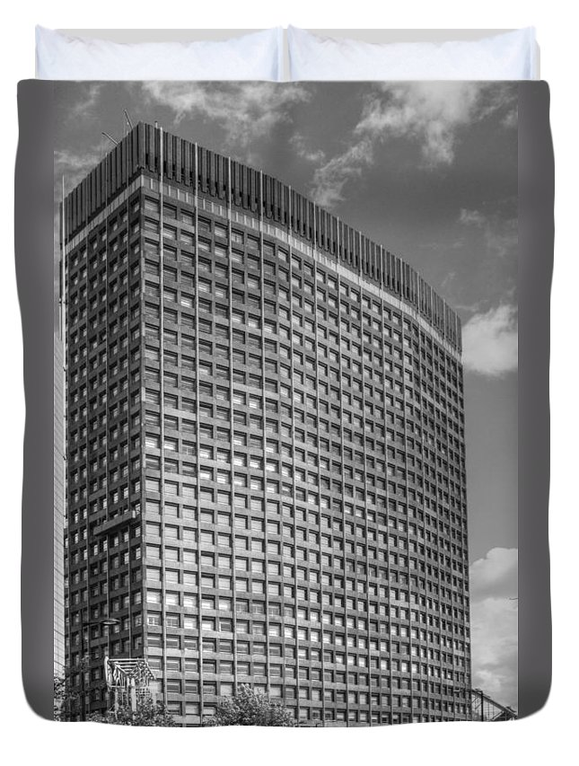 Cityscape Duvet Cover featuring the photograph Portland House by David French