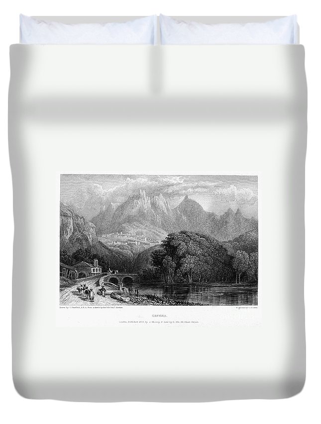 1832 Duvet Cover featuring the photograph Portugal: Cintra, 1832 by Granger