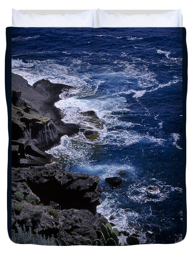 Sea Duvet Cover featuring the photograph Postcard From Sicily by Michele Mule