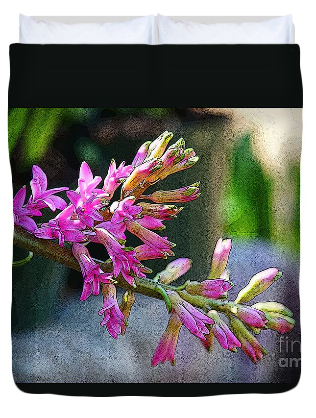 Flowers Duvet Cover featuring the photograph Posteredged Flowers by Randy Harris