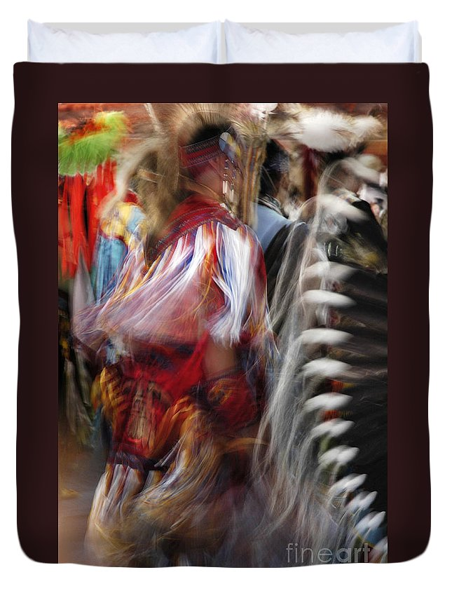 Pow Wow Duvet Cover featuring the photograph Pow Wow Dancer by Vivian Christopher