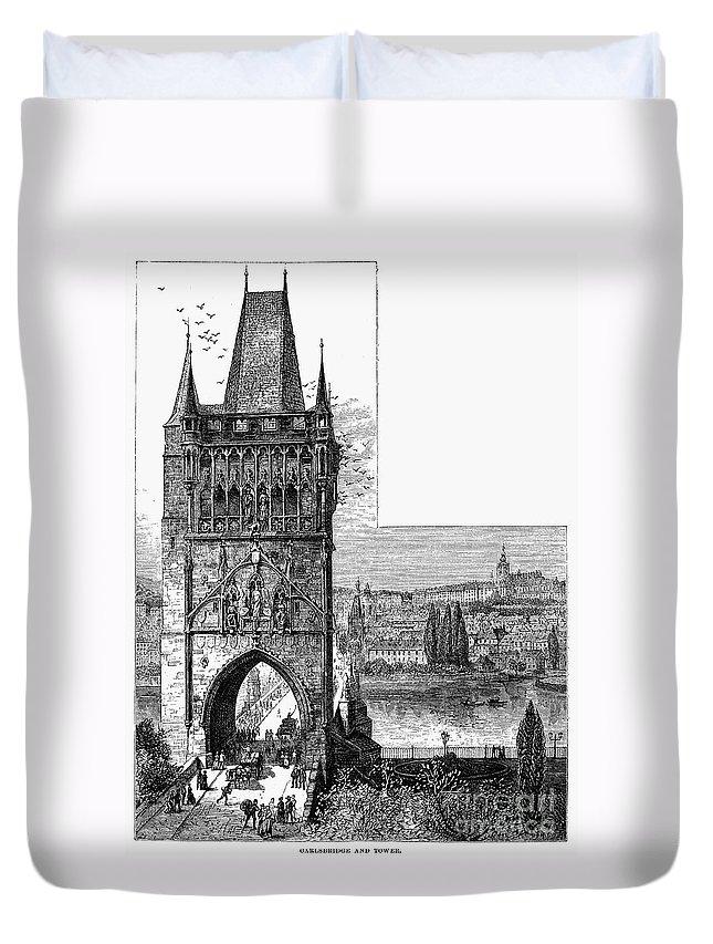 19th Century Duvet Cover featuring the photograph Prague: Carlsbridge by Granger