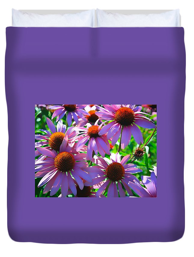 Sunflower Duvet Cover featuring the photograph Pretty Flowers by Steve McKinzie