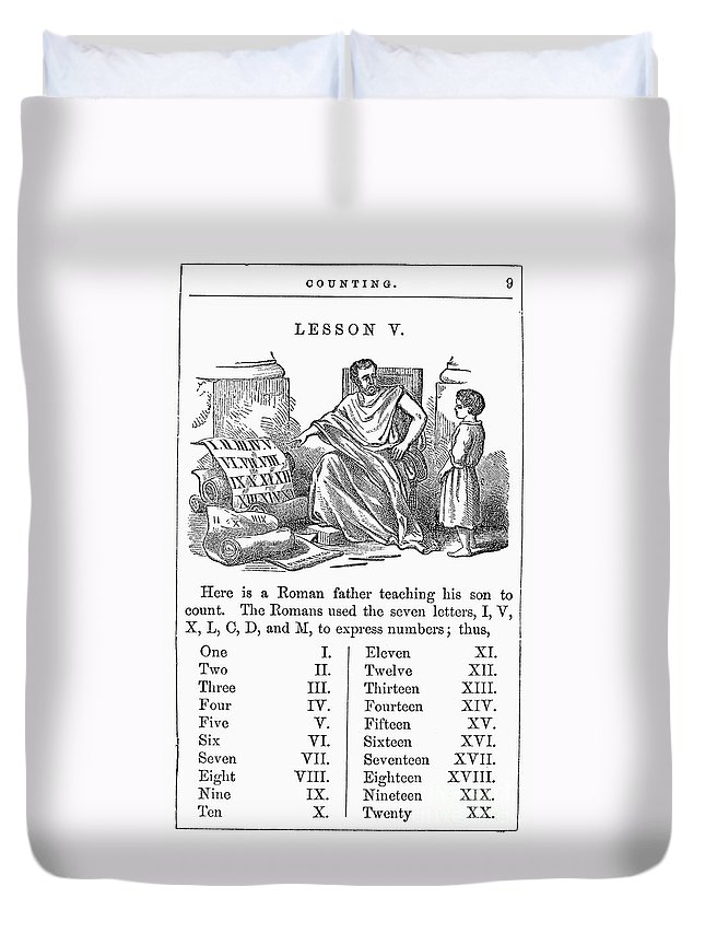 1845 Duvet Cover featuring the photograph Primer: Roman Numerals by Granger
