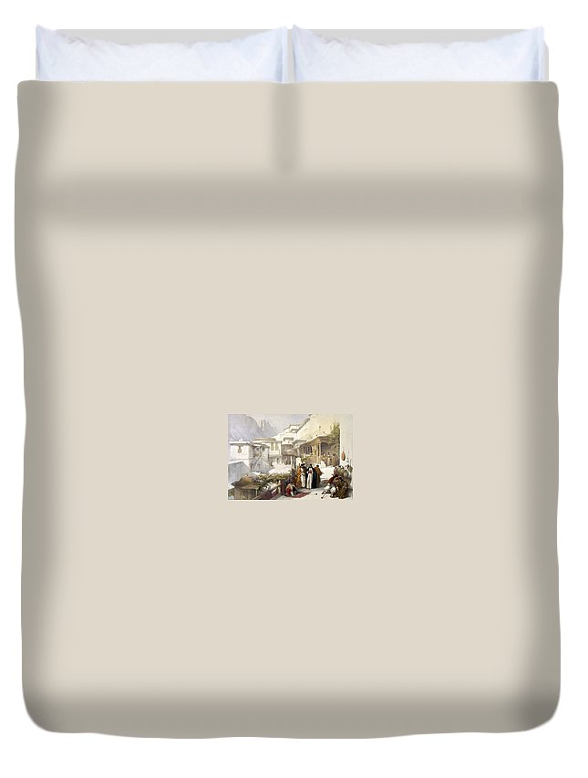 St. Catherine Duvet Cover featuring the photograph Principal Court Of The Convent Of St. Catherine by Munir Alawi