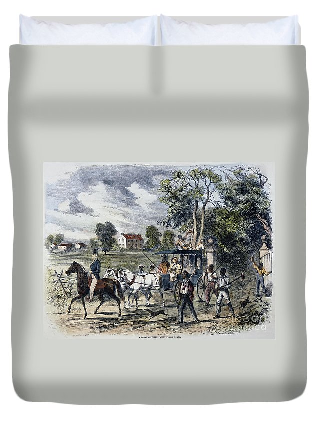 1872 Duvet Cover featuring the photograph Pro-union South, 1862 by Granger