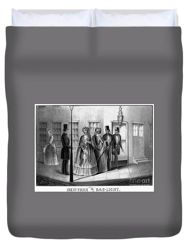 1850 Duvet Cover featuring the photograph Prostitution, 1850 by Granger