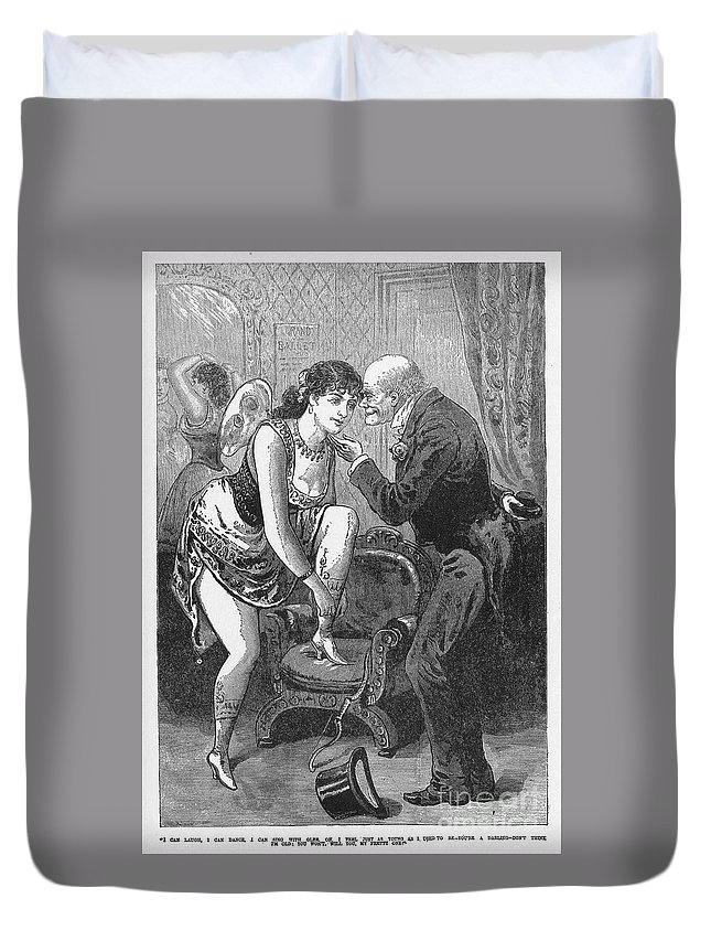 1880s Duvet Cover featuring the photograph Prostitution, C1880 by Granger