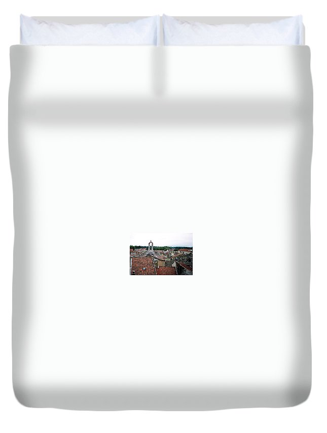 Provence Duvet Cover featuring the photograph Provencal Skyline by Pat Purdy