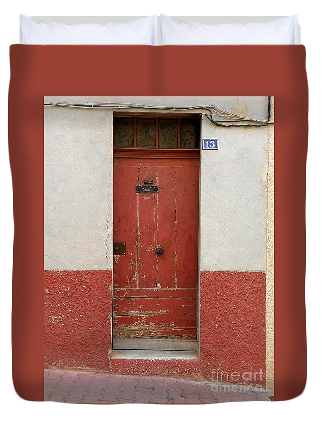 Door Duvet Cover featuring the photograph Provence Door 13 by Lainie Wrightson