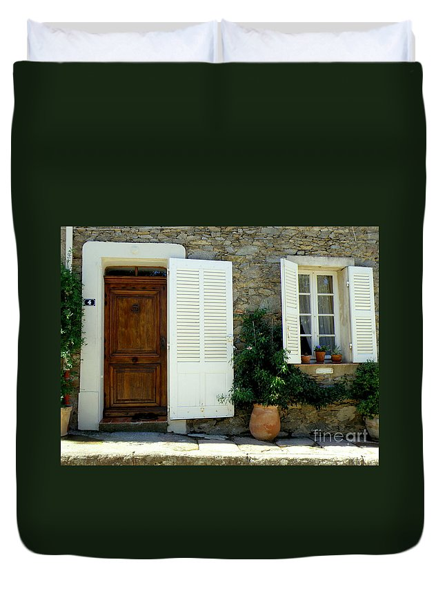 Doors And Windows Duvet Cover featuring the photograph Provence Door Number 4 by Lainie Wrightson