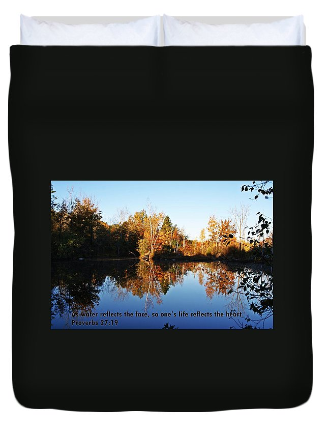 Proverbs Duvet Cover featuring the photograph Proverbs 27 V19 by Joe Faherty