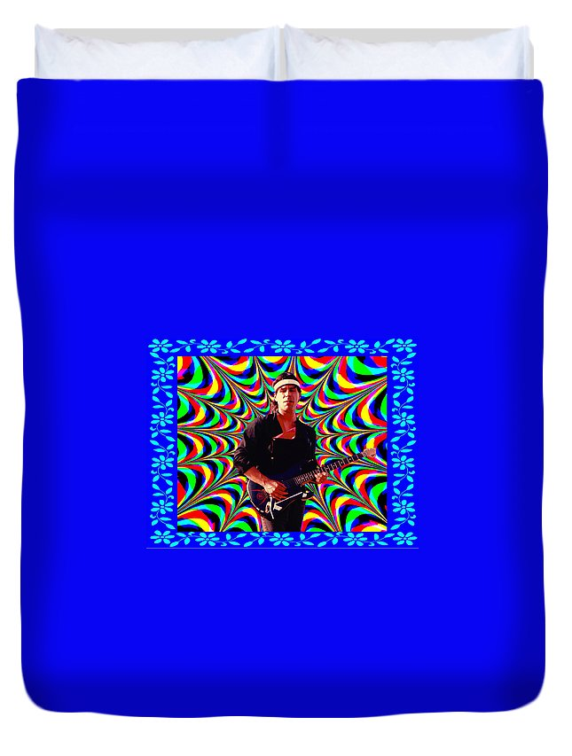 Spirit Duvet Cover featuring the photograph Psychedelia Within A Blue Framework by Ben Upham