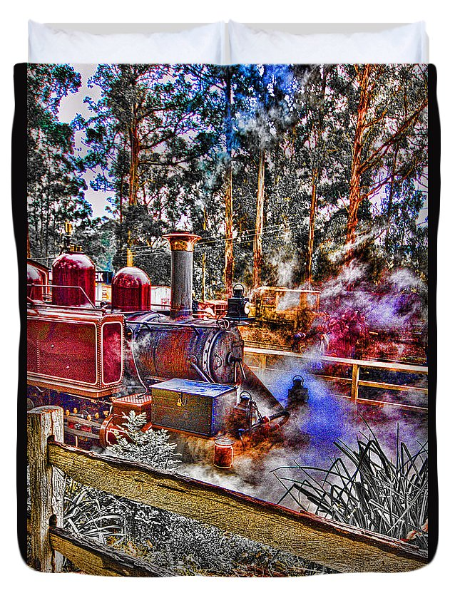 Puffing Billy Duvet Cover featuring the photograph Puffing Billy by Douglas Barnard