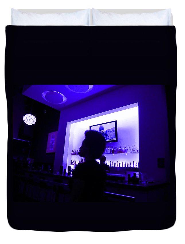 Purple Duvet Cover featuring the photograph Purple Haze by Kym Backland