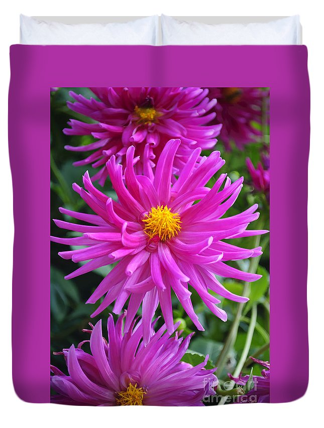 Flower Duvet Cover featuring the photograph Purpolis by Diego Re