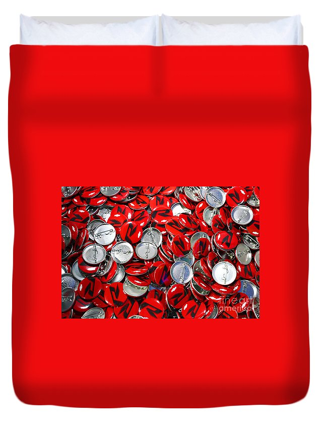 Art Duvet Cover featuring the photograph Push Chevys Buttons by Alan Look