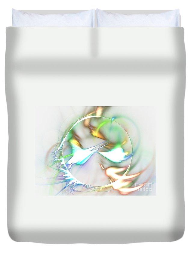 Apophysis Duvet Cover featuring the digital art Quasars by Kim Sy Ok