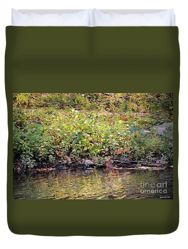 Quiet Moment Duvet Cover featuring the photograph Quiet Moment by Maria Urso