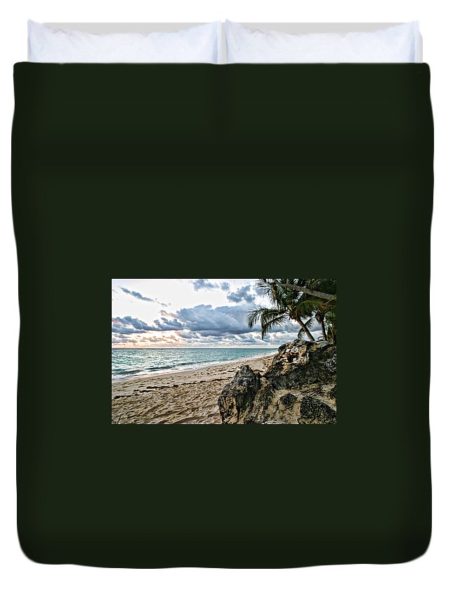 Beach Duvet Cover featuring the photograph Quiet Time by Shari Jardina