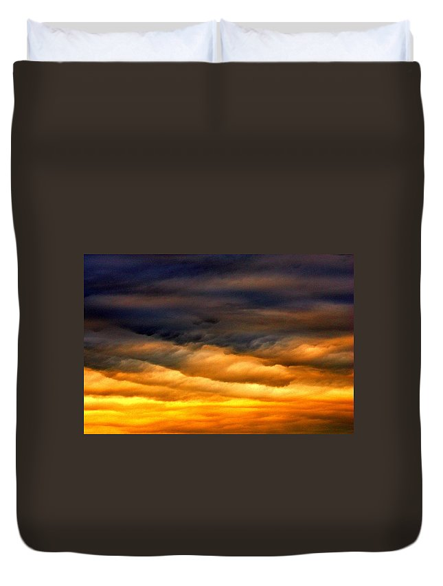 Clouds Duvet Cover featuring the photograph Rainbow Clouds by One Rude Dawg Orcutt