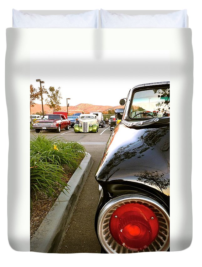 Ford Duvet Cover featuring the photograph Ranchero Rocket by Customikes Fun Photography and Film Aka K Mikael Wallin
