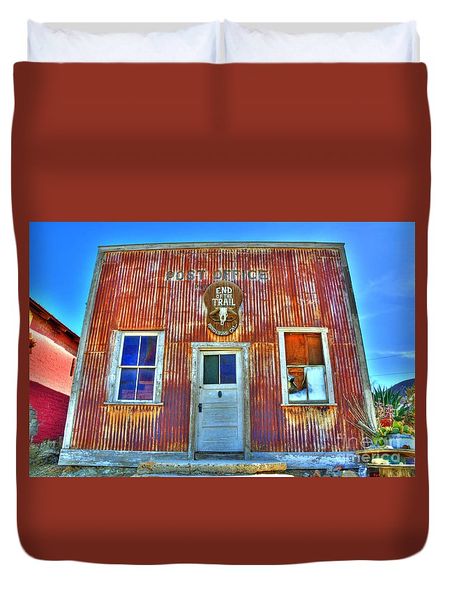Randsburg Post Office Duvet Cover featuring the photograph Randsburg Post Office by Bob Christopher