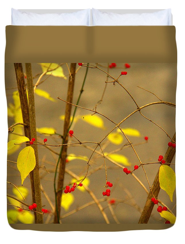 Red Hots Duvet Cover featuring the photograph Red Hots by Ed Smith