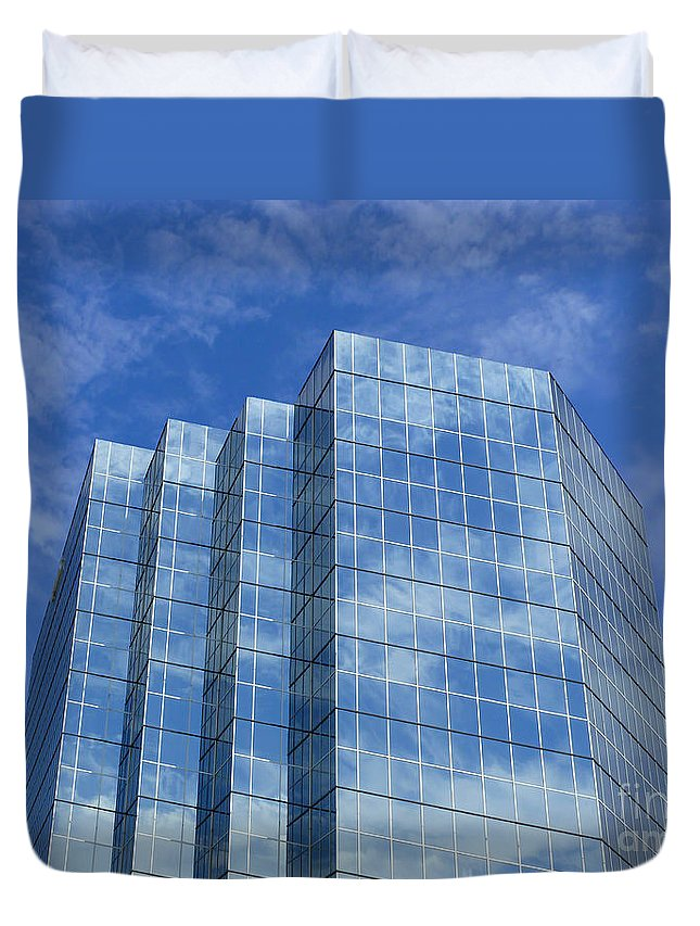 Reflected Sky Duvet Cover featuring the photograph Reflected Sky by Methune Hively